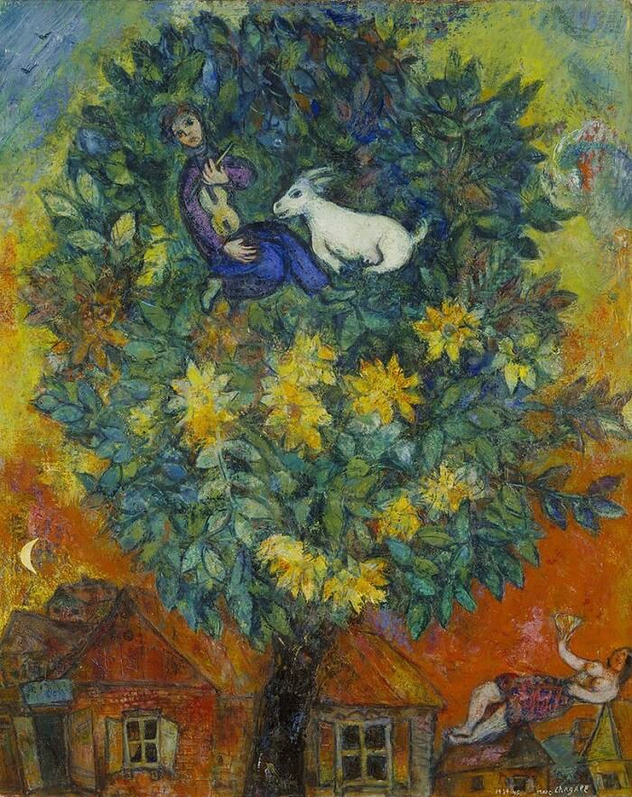 Autumn in the Village, 1939-45 by Marc Chagall Chagall Crucifixion