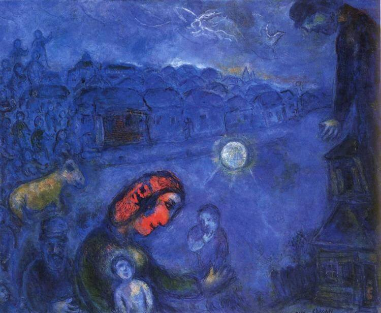 Blue village 1975 - by Marc Chagall