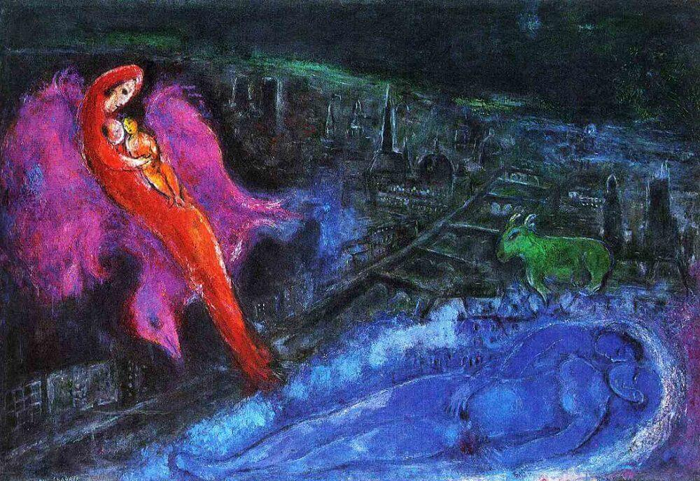 Bridges over the Seine, 1954 by Marc Chagall