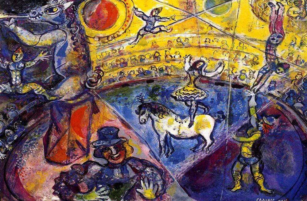 Circus Horse, 1964 - by Marc Chagall