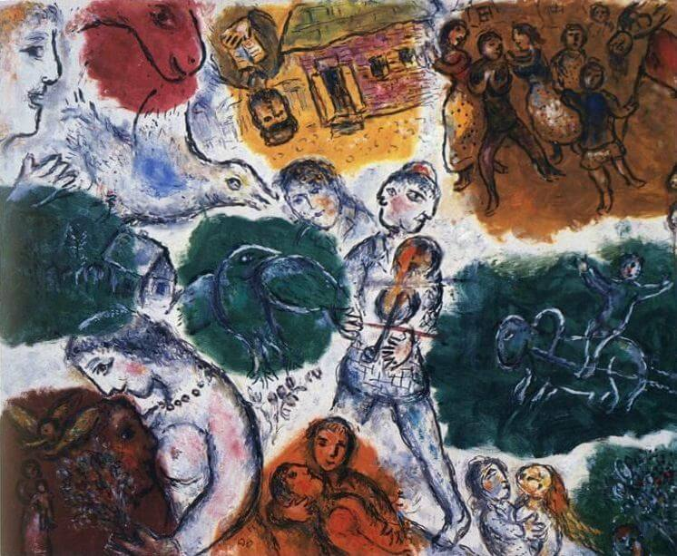 Composition 1976 - by Marc Chagall