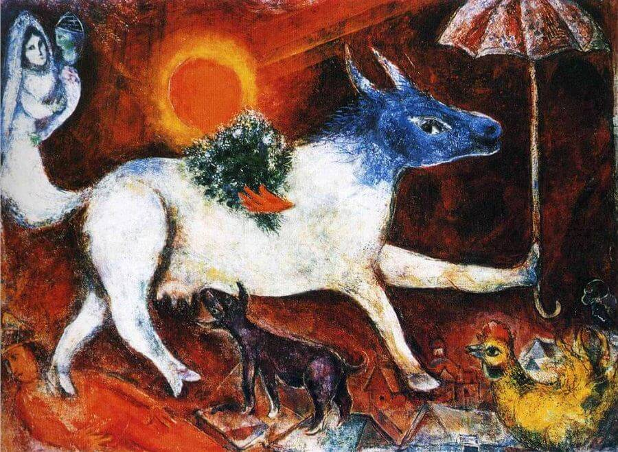 Cow with Parasol, 1946 by Marc Chagall