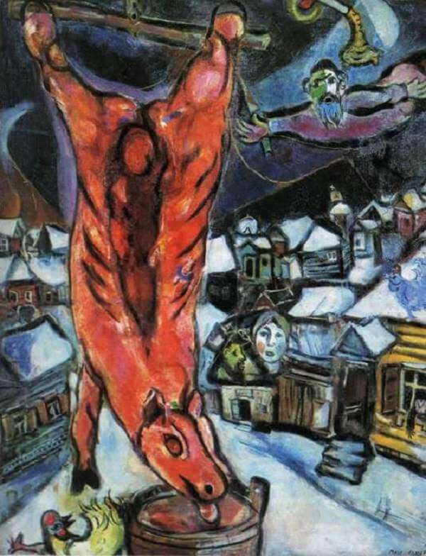 Flayed Ox, 1943 - by Marc Chagall