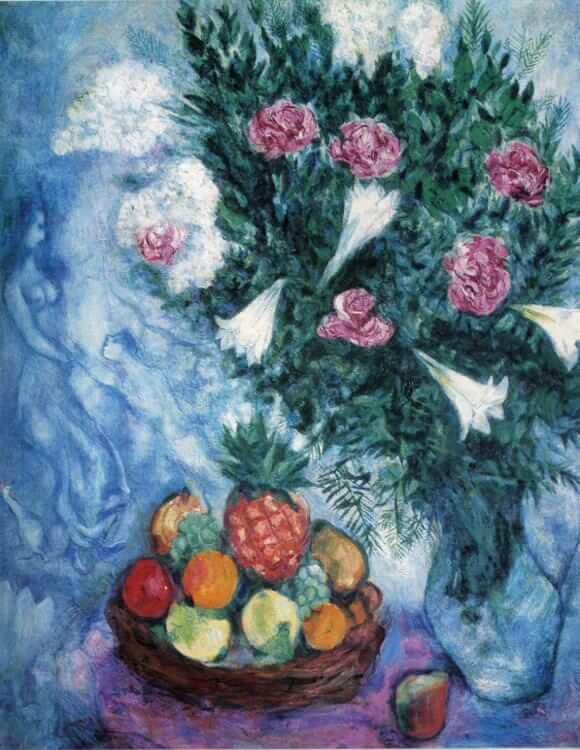 Fruits and flowers 1929 - by Marc Chagall