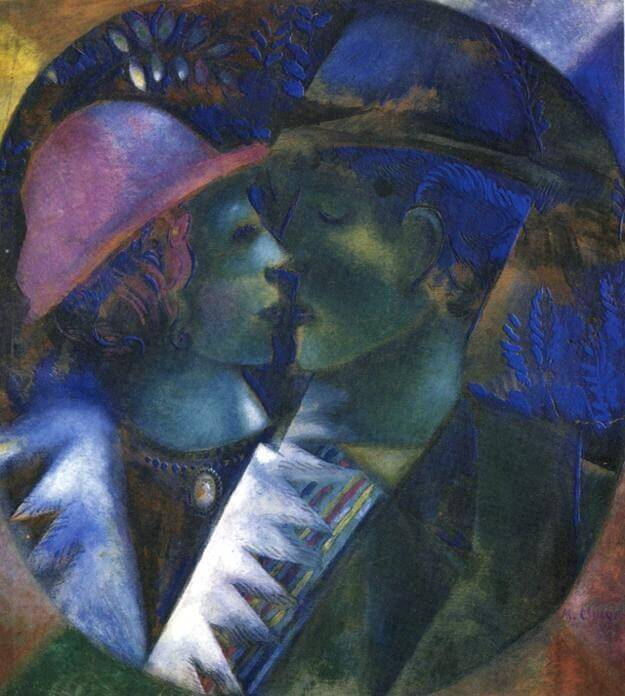 Green lovers - by Marc Chagall