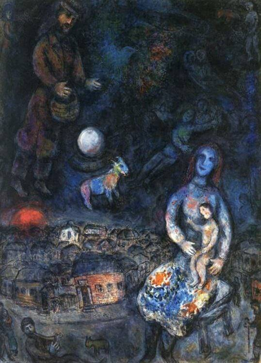 Holy family 1975 76 - by Marc Chagall