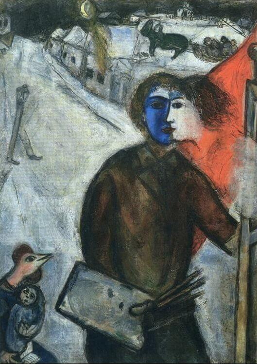 Hour between wolf and dog 1938 - by Marc Chagall Chagall Crucifixion