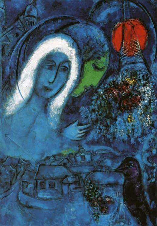 Le champ de mars 1954 - by Marc Chagall