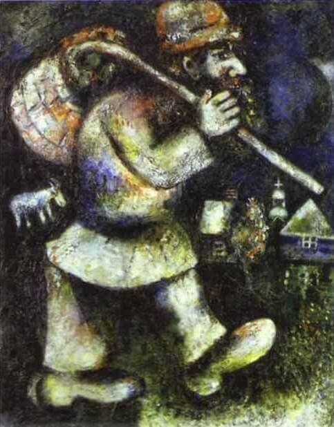Le juif errant 1923 - by Marc Chagall