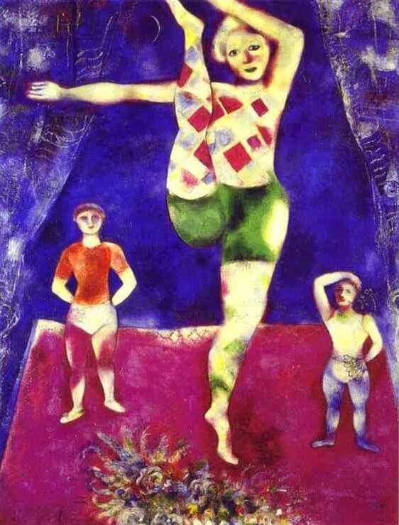 Les trois acrobates 1926 - by Marc Chagall