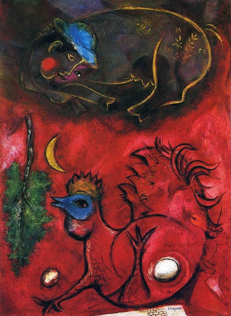 Listening to the Cock, 1944 by Marc Chagall