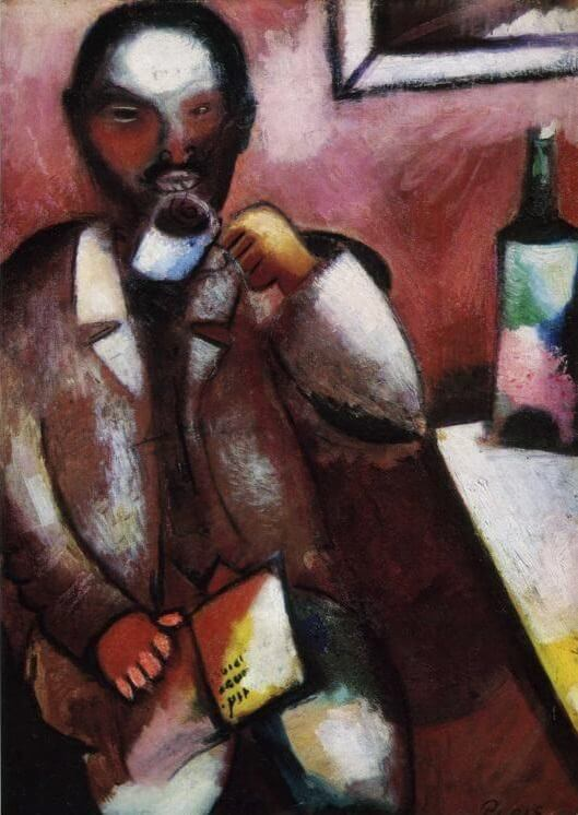 Mazin the poet 1911 - by Marc Chagall