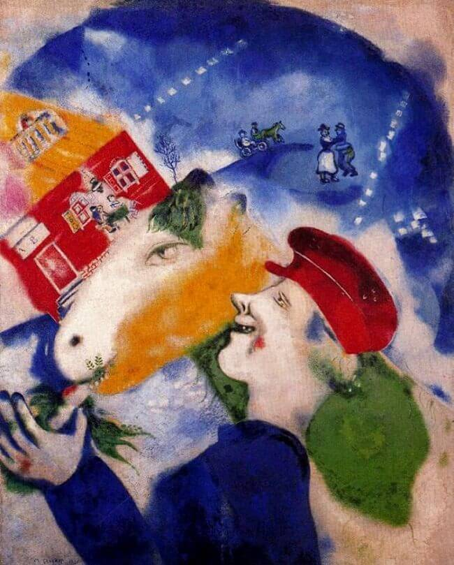 Peasant Life, 1925 - by Marc Chagall