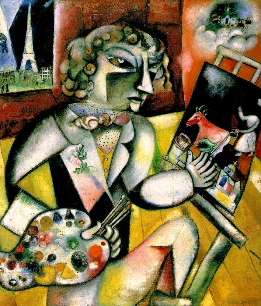 Self-Portrait with Seven Fingers, 1912-13 by Marc Chagall