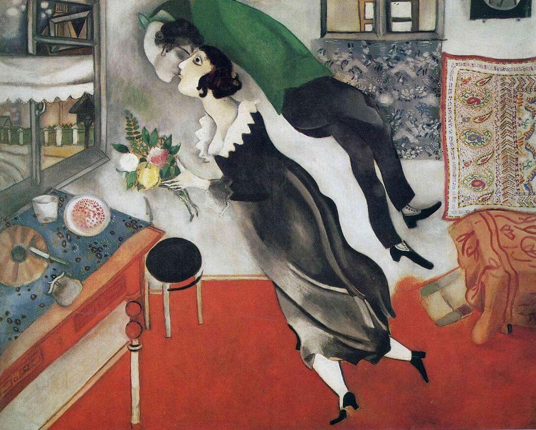 The Birthday, 1887 by Marc Chagall