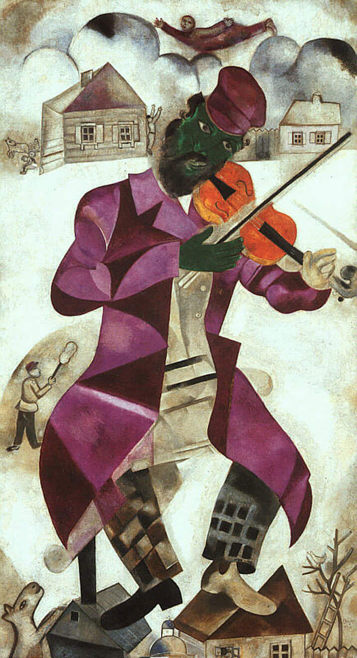 The Green Violinist, 1923-24 by Marc Chagall
