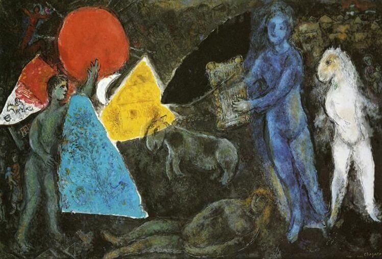 The myth of orpheus, 1977 - by Marc Chagall
