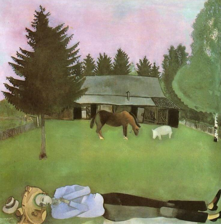 The Poet Reclining, 1915 by Marc Chagall Chagall Crucifixion