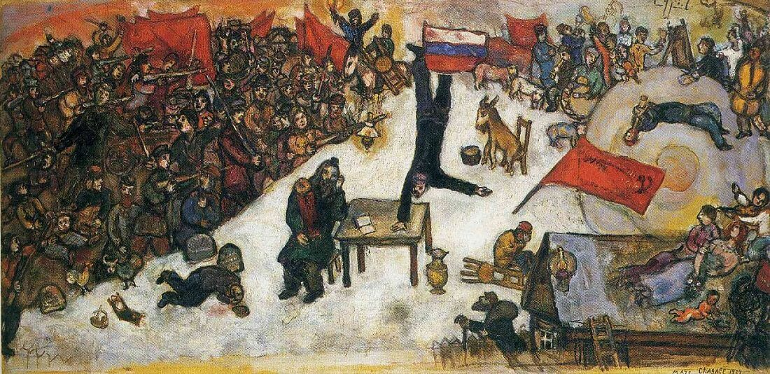 The Revolution, 1937 by Marc Chagall Chagall Crucifixion