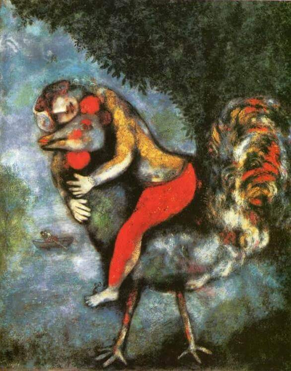 The rooster, 1929 - by Marc Chagall