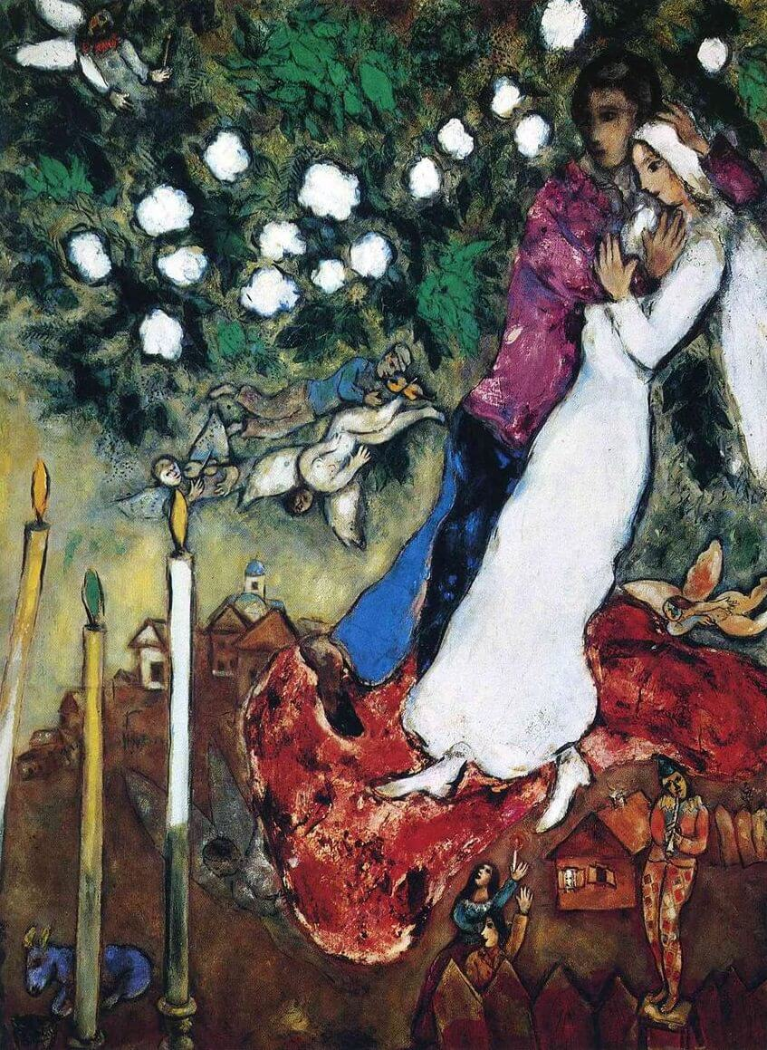 The Three Candles, 1938 by Marc Chagall
