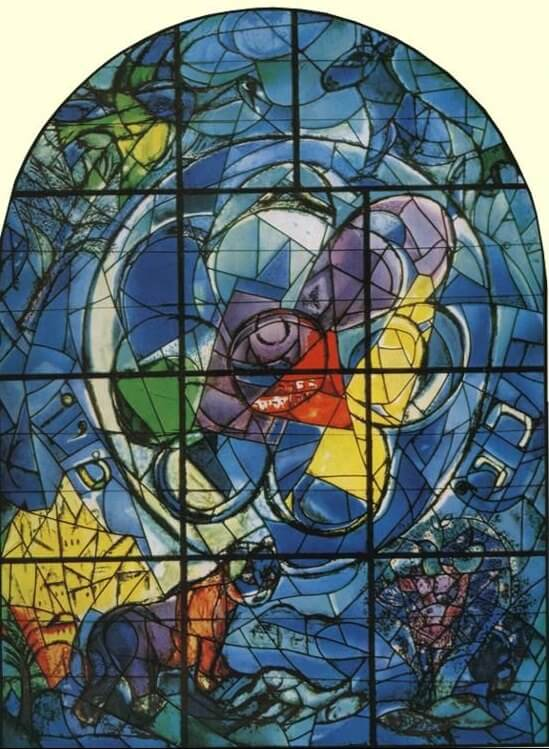 The tribe of benjamin, 1960 - by Marc Chagall