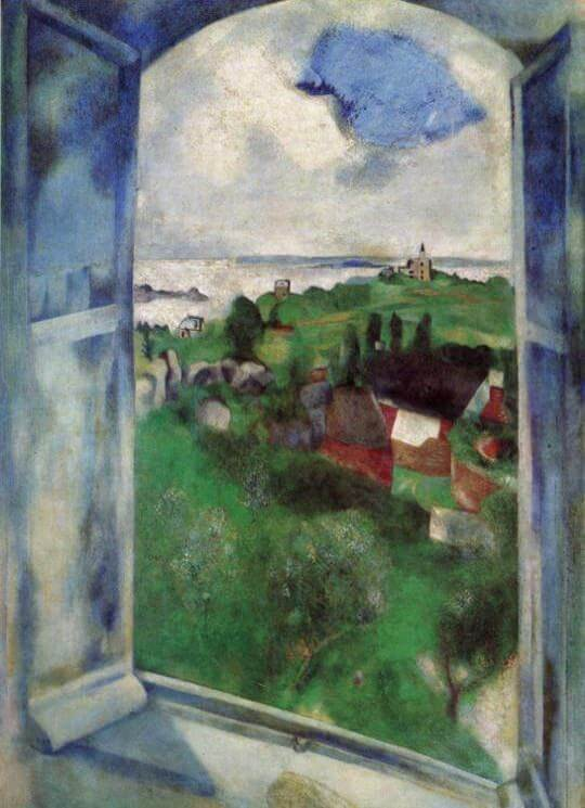 The Window, 1924 - by Marc Chagall