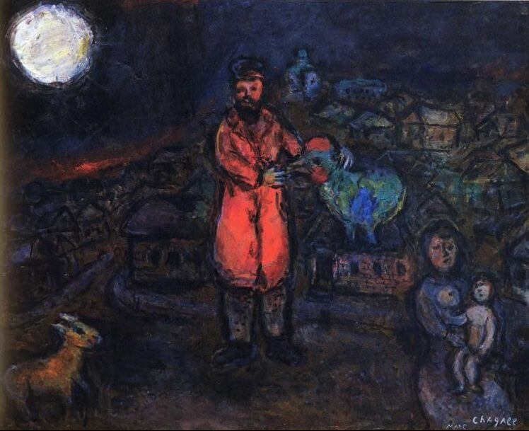 Village, 1970-75 - by Marc Chagall
